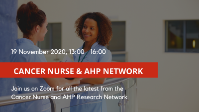 Cancer Nurse and AHP Research Network conference